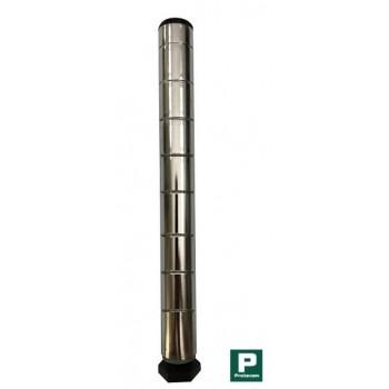Coluna Cromada de 100cm